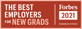 best employers for new grads: forbes 2021